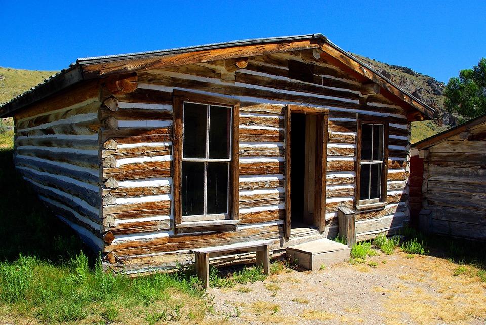 Bannack Log House, Montana, Usa, Bannack, Ghost Town