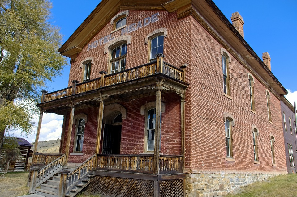 Bannacks Brick Hotel, Bannack, State, Park, Montana