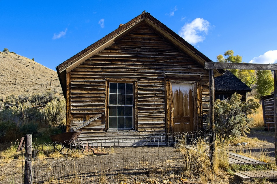Turner House In Bannack Montana, Montana, Usa, Bannack