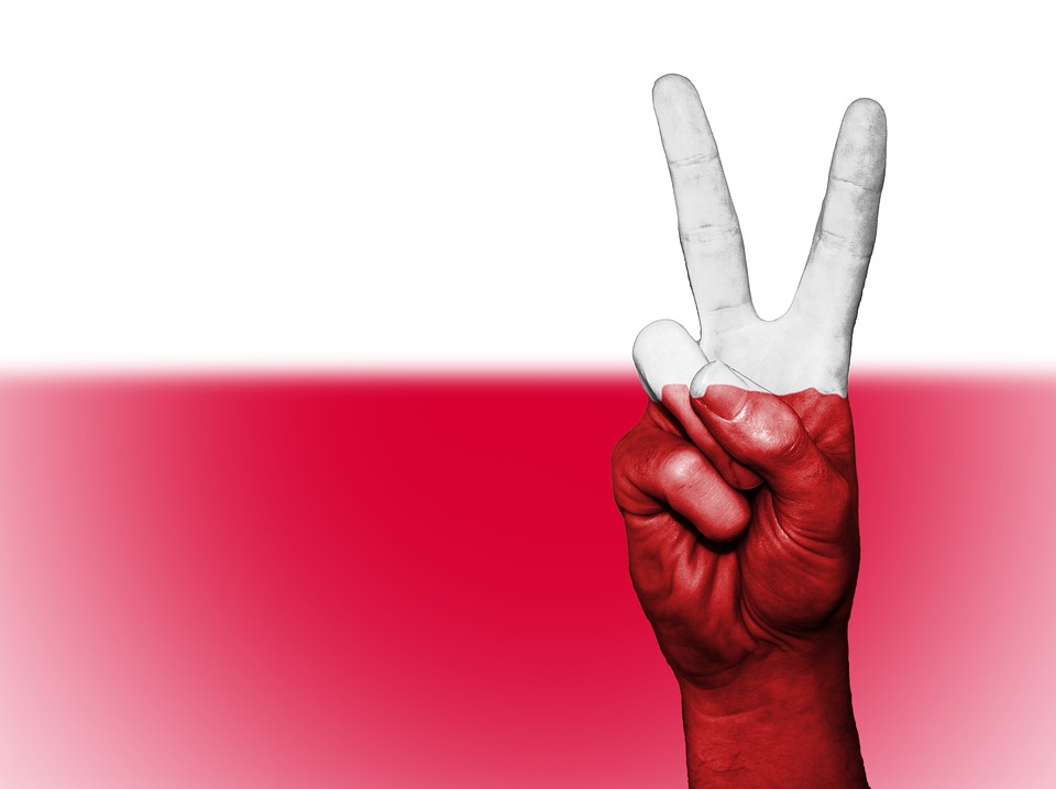 Poland, Peace, Hand, Nation, Background, Banner, Colors