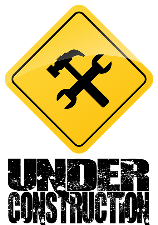 Construction, Safety, Site, Banner, Sign, Yellow