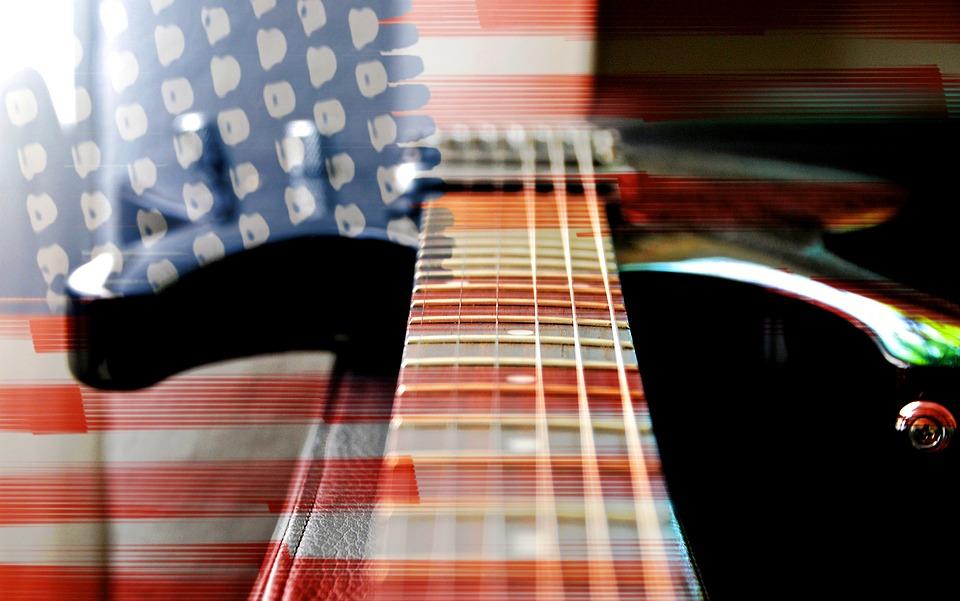 Flag, Usa, Banner, Guitar, Electric Guitar