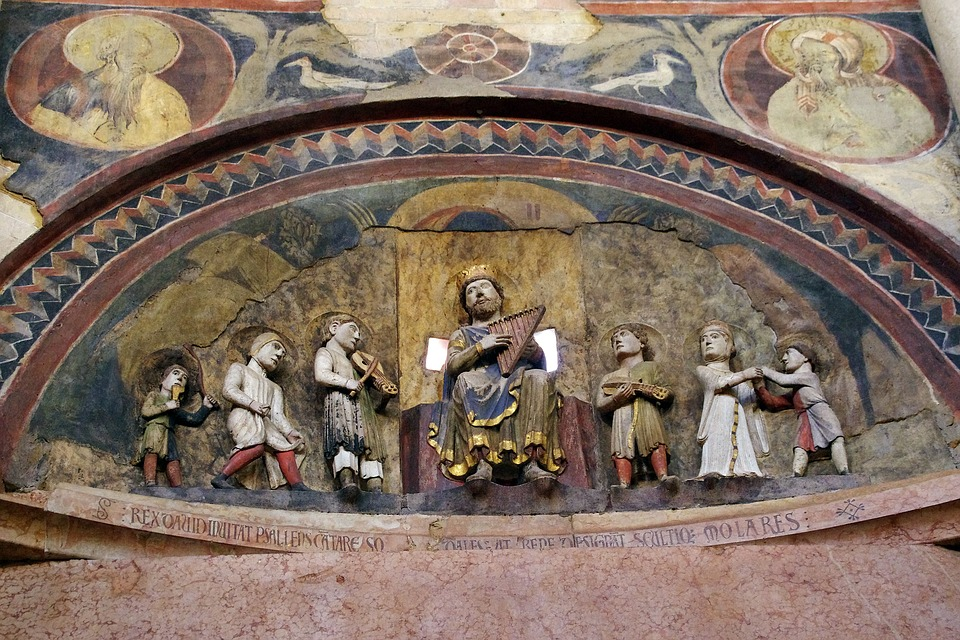 Parma, Baptistery, Bezel, High Relief, King David