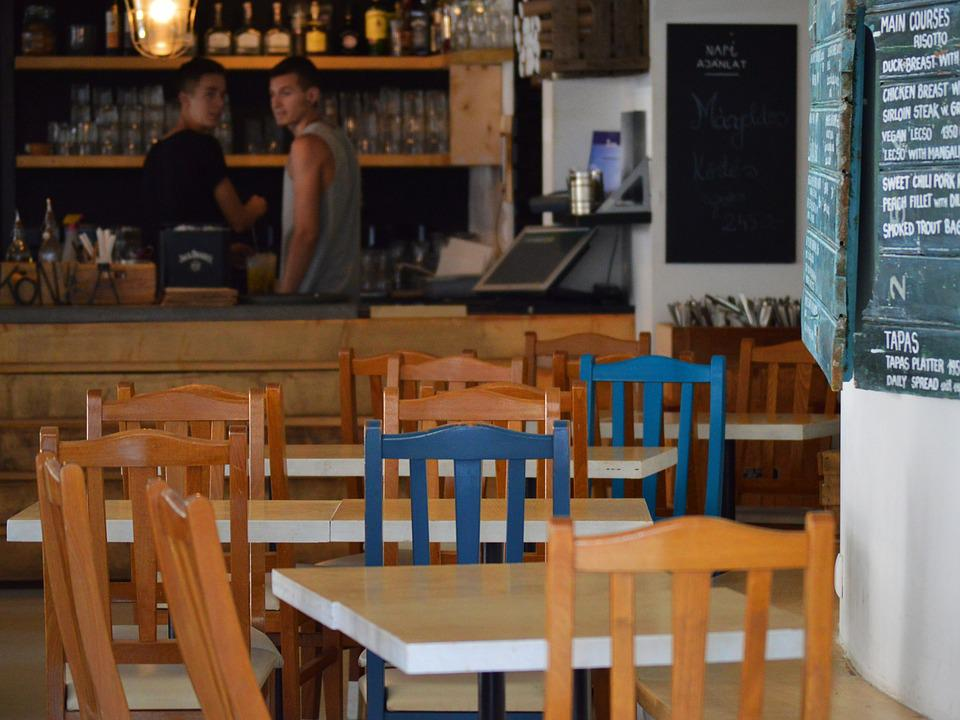 Cafe, Chairs, Tables, Barista, Coffee, Bar, Empty