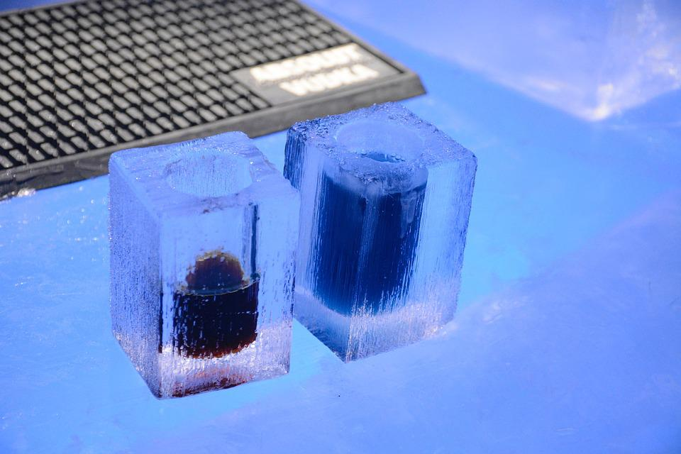 Ice Bar, Drinks, Alcohol, Ice Glasses, Sweden, Bar, Ice