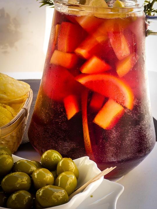 Sangria, Olives, Spanish, Food, Spain, Bar, Tapas