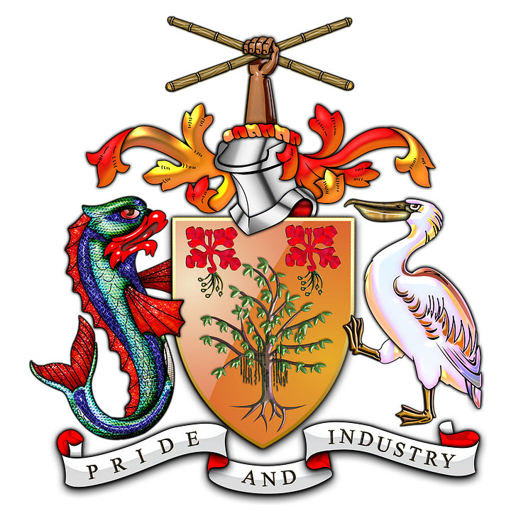 Barbados, Barbados Coat Of Arms, Barbados Coa