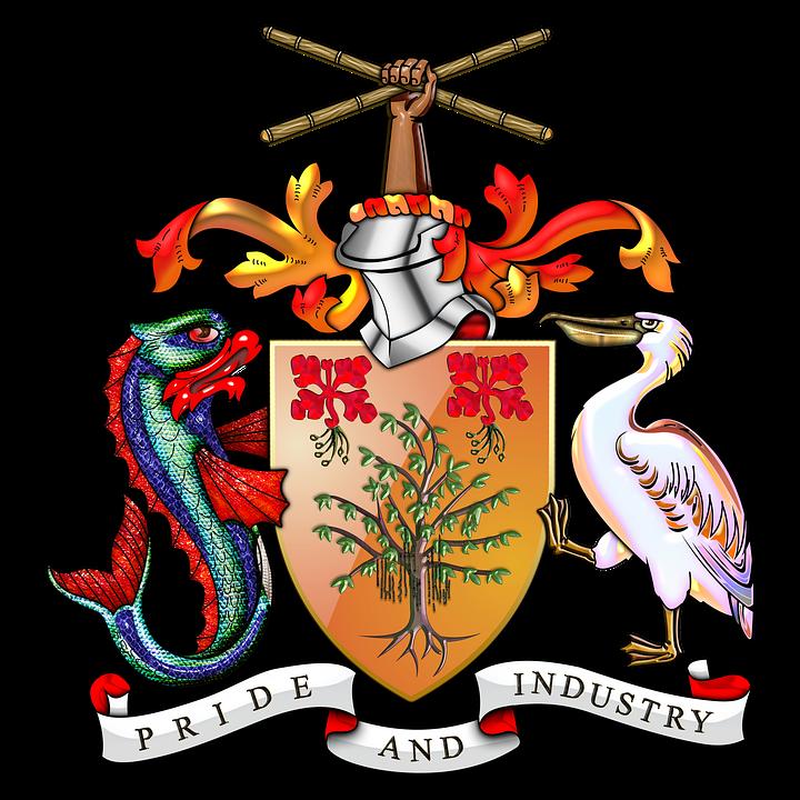 Barbados, Barbados Coat Of Arms, Barbados Coa