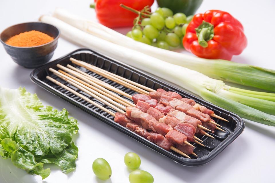 Kebab, Beef Skewers, Barbecue, Gourmet, Dishes