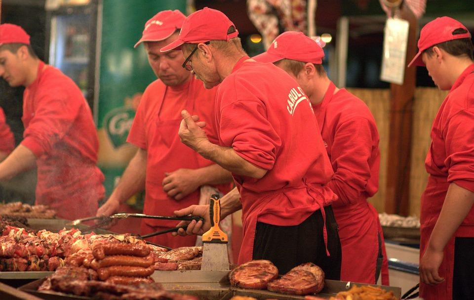 Cook, Waiter, Barbecue, Market, Sell