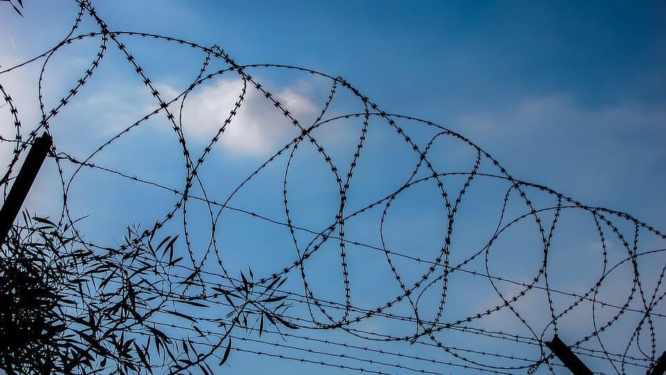 Free photo Barbed Freedom Barrier Prison Fence Metal Wire - Max Pixel