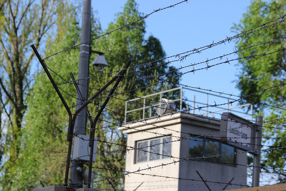 Border, Barbed Wire, Gdr, German, Tower, Closed