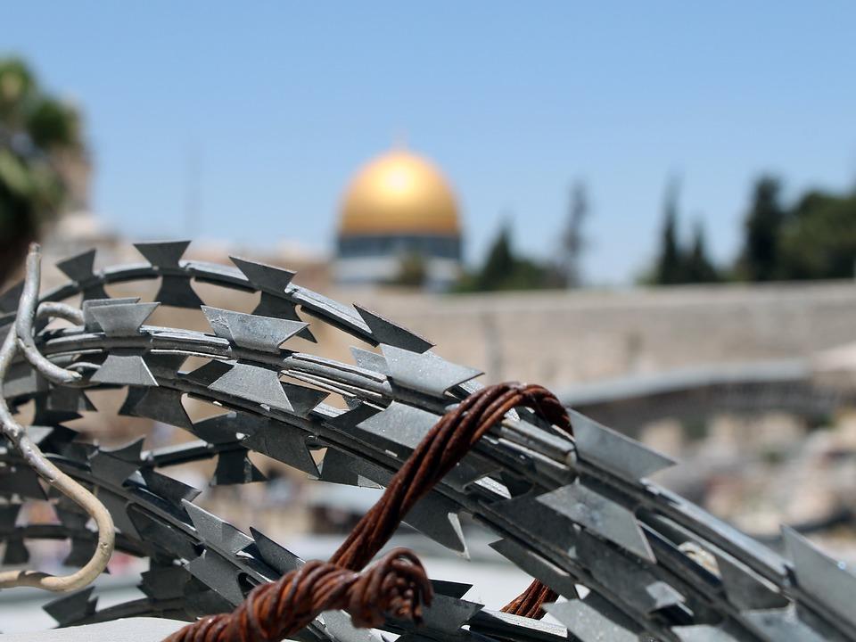 Barbed Wire, Jerusalem, Israel, Palestine, Western Wall