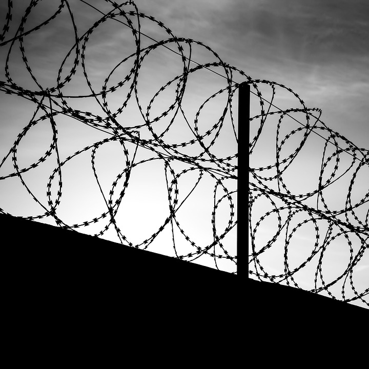 Barbed Wire, Black, The Night Sky