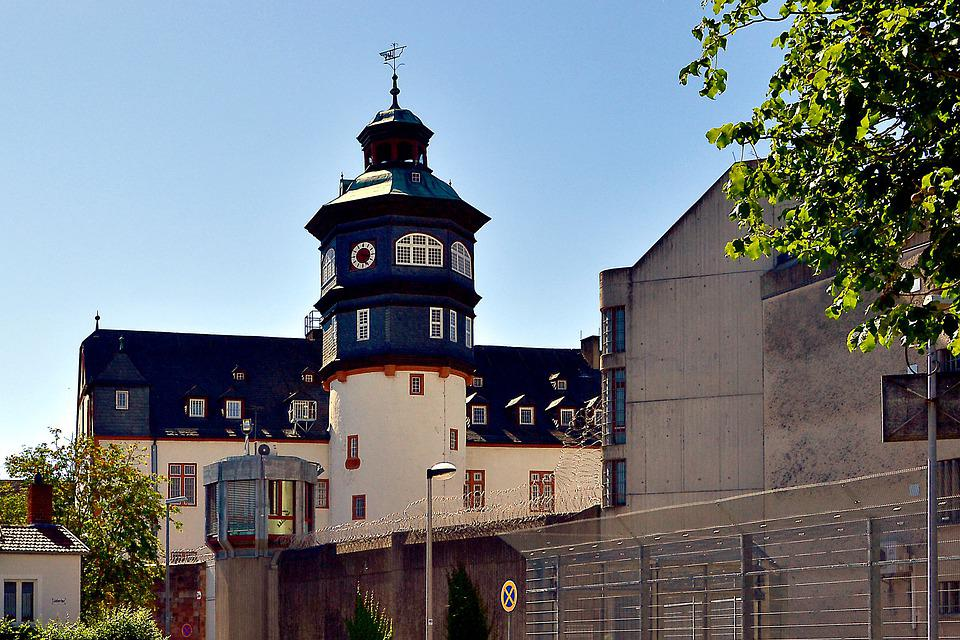 Prison, Jva, Watchtower, Barbed Wire, Wall