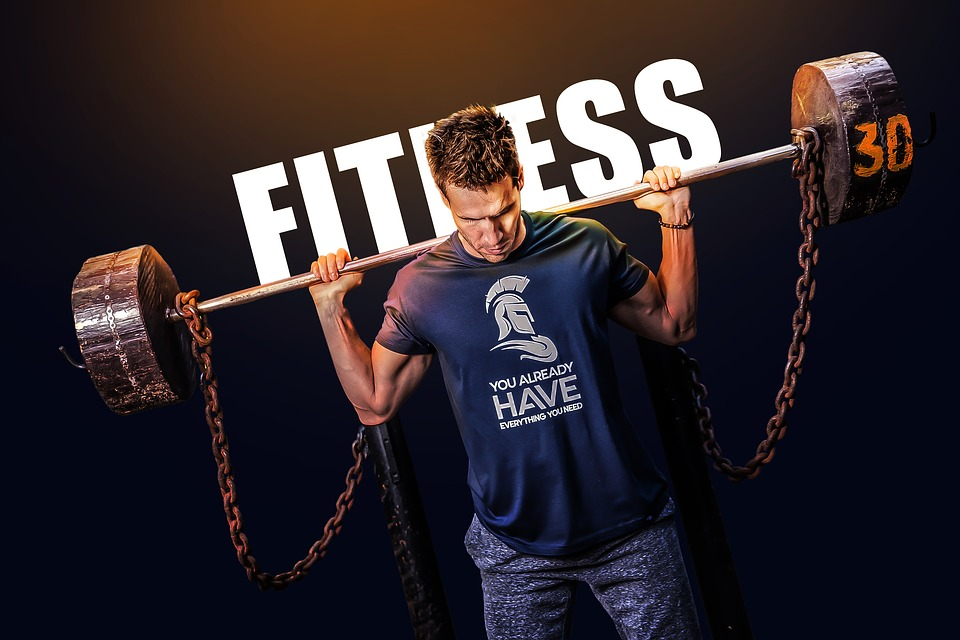 Barbell, Exercise, Fitness, Man, Indoor, Poster, Person