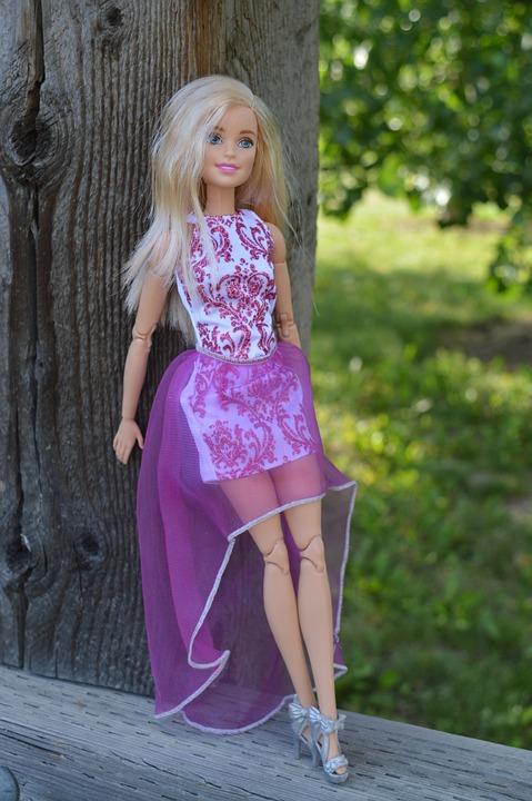 Barbie, Doll, Toy, Posing, Dress, Purple, Caucasian