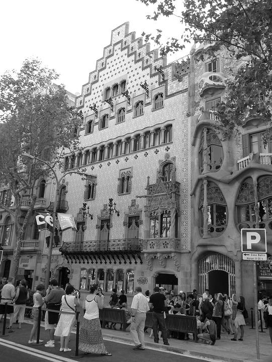 Batllo House, Europe, Barcelona, Spain, Catalonia