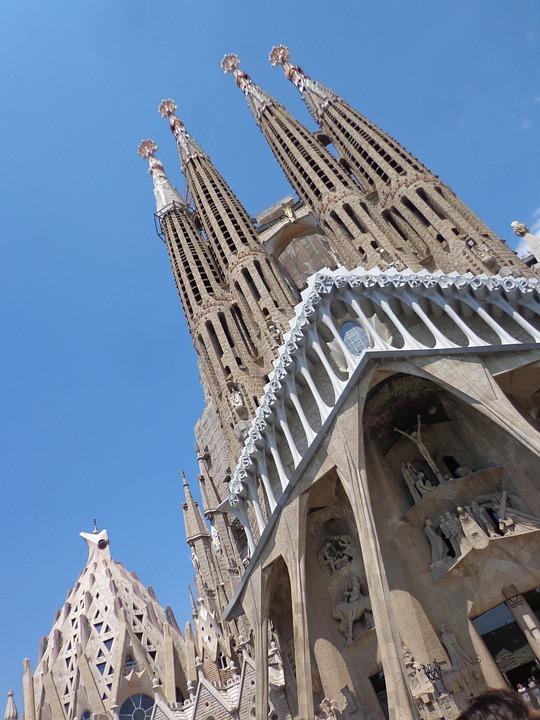 Barcelona Spain, Barcelona, Cathedral, Gaudì