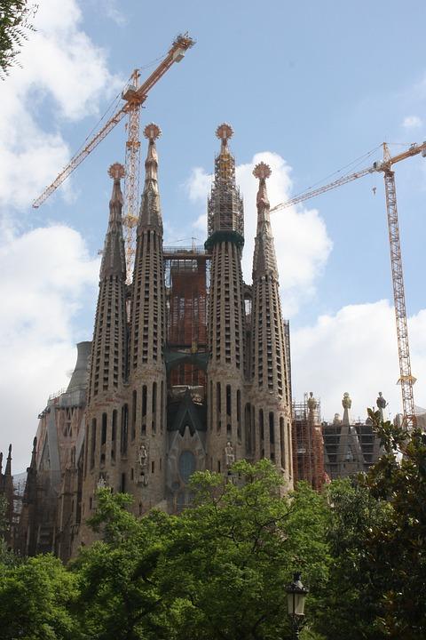 Spain, Barcelona, Cathedral, Sagrada Familia