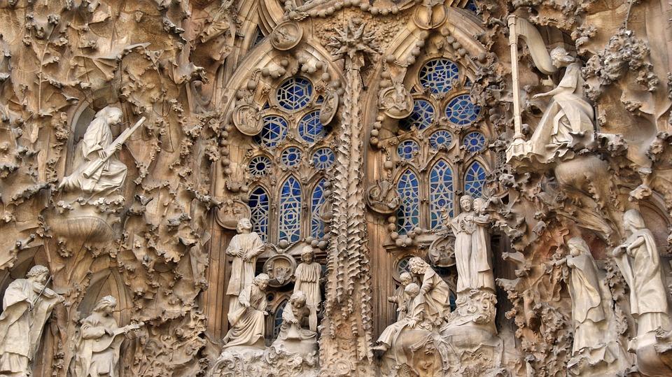 Spain, Barcelona, Church, Sagrada Familia, Architecture