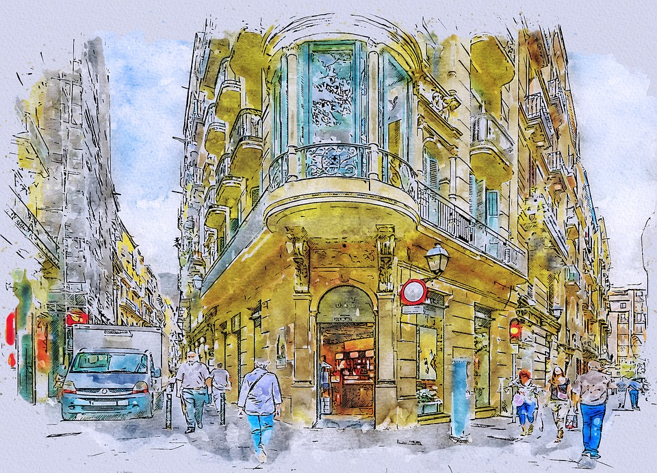 Barcelona, Street, Gothic, Quarter, Spain, Architecture