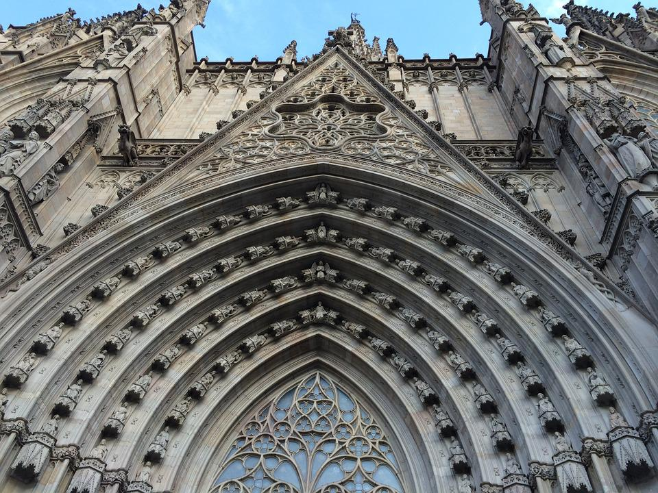 Church, Barcelona, Spain, Monument, Construction, Arts
