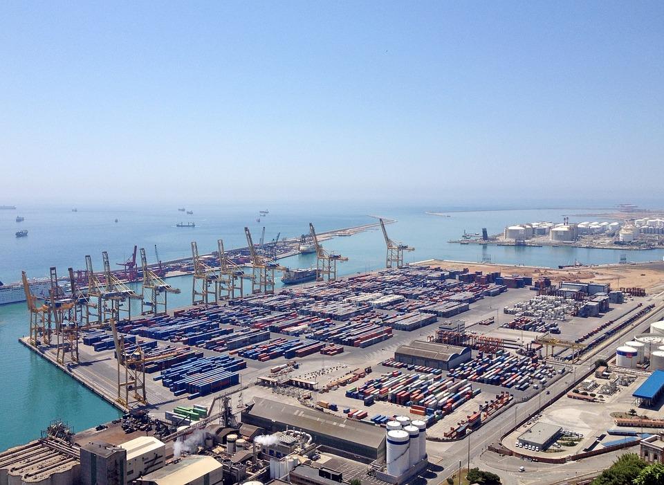 Barcelona, Port, Freight Harbor, Spain, Sea, Catalonia