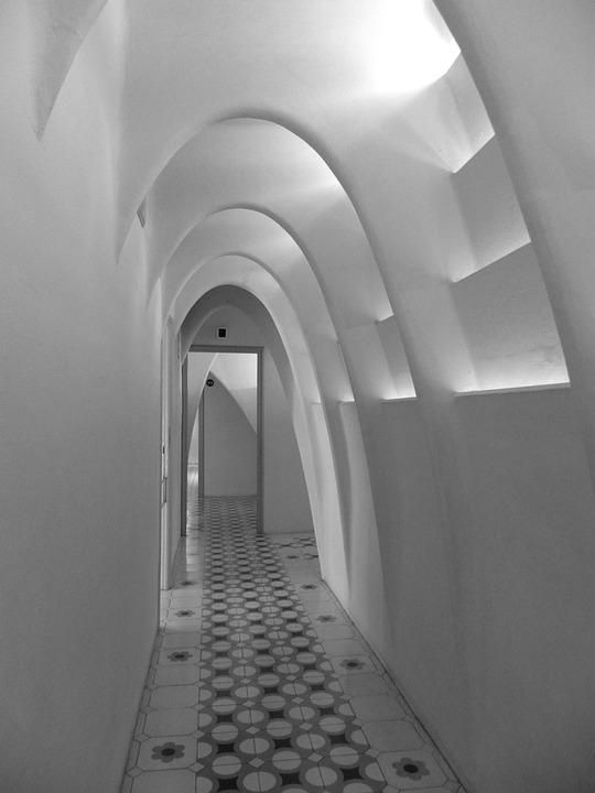 Barcelona, Battlo House, Catalonia, Spain, Hallway