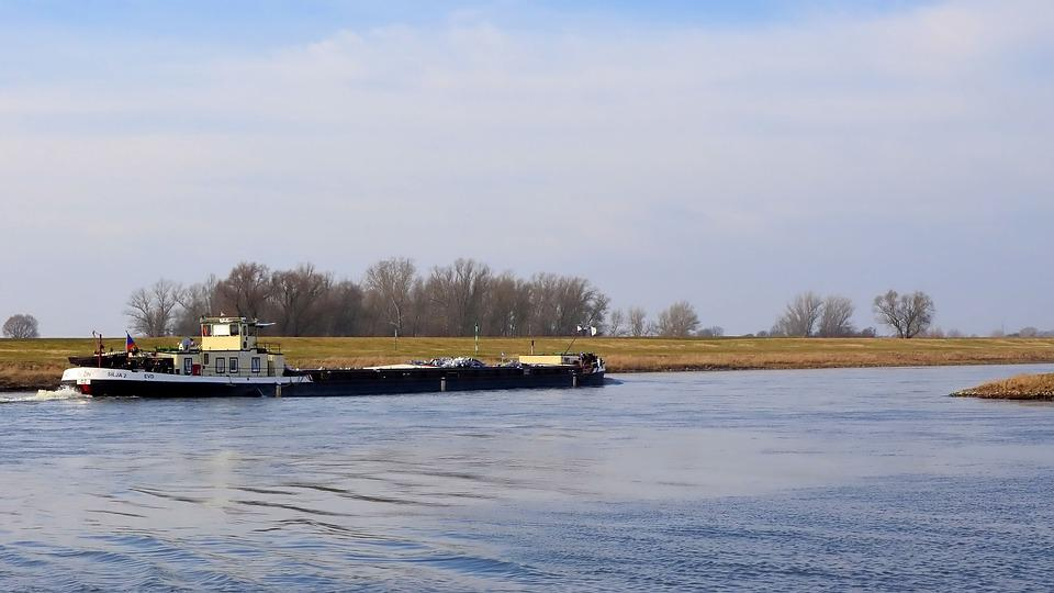 Barge, Kahn, River, Ship, Shipping, Water, Germany