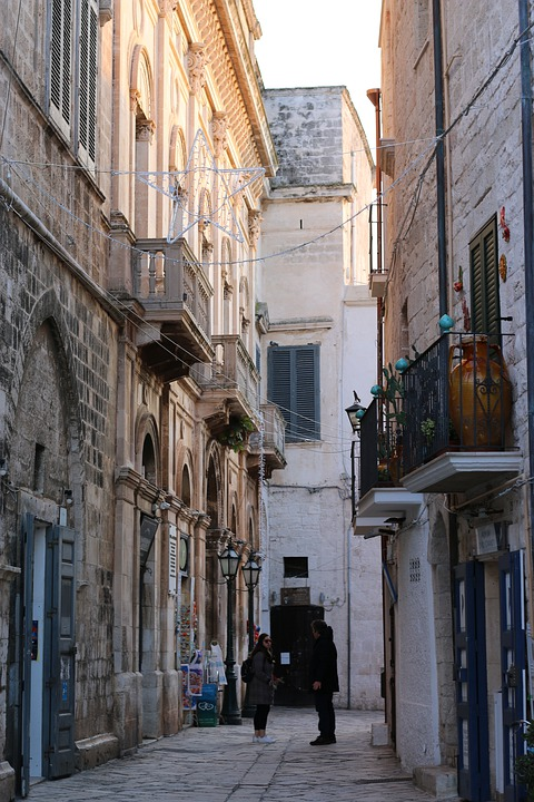 Alley, Old Houses, Bari, Italy, Weduta, Architecture