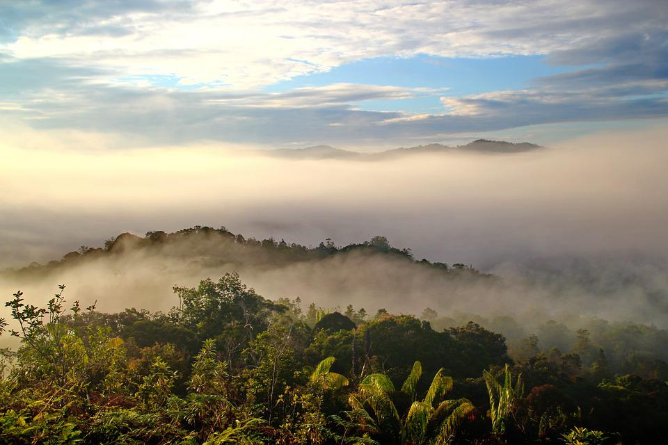 Bario, Sarawak, Borneo, Malaysia, Clouds, Morning