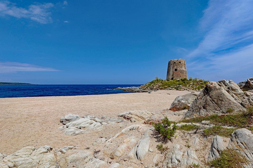 Sardinia, Beach, Torre Di Bari, Barisardo, By The Sea