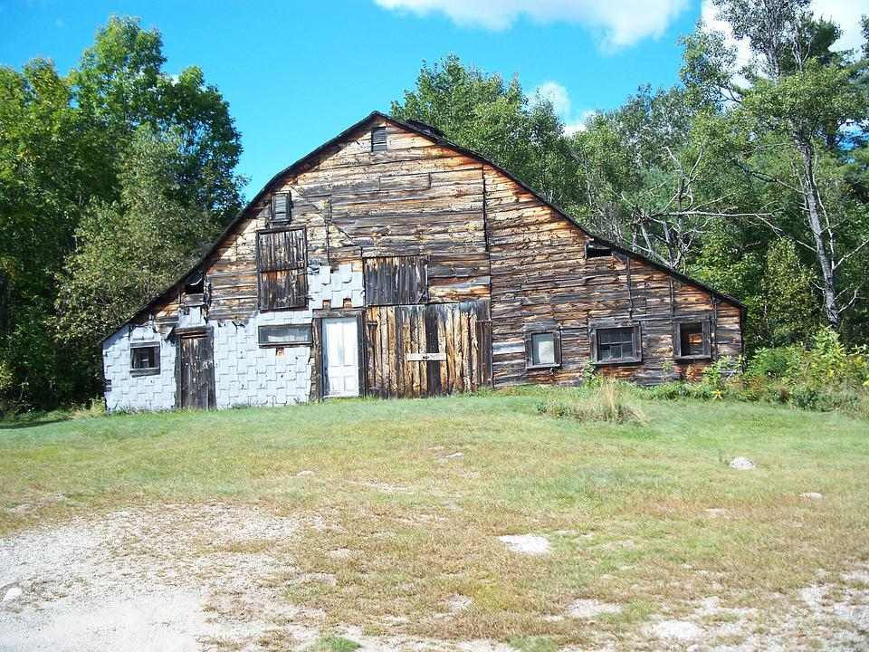 Barn, Slightly Used, Rustic, Cottage, Wooden House