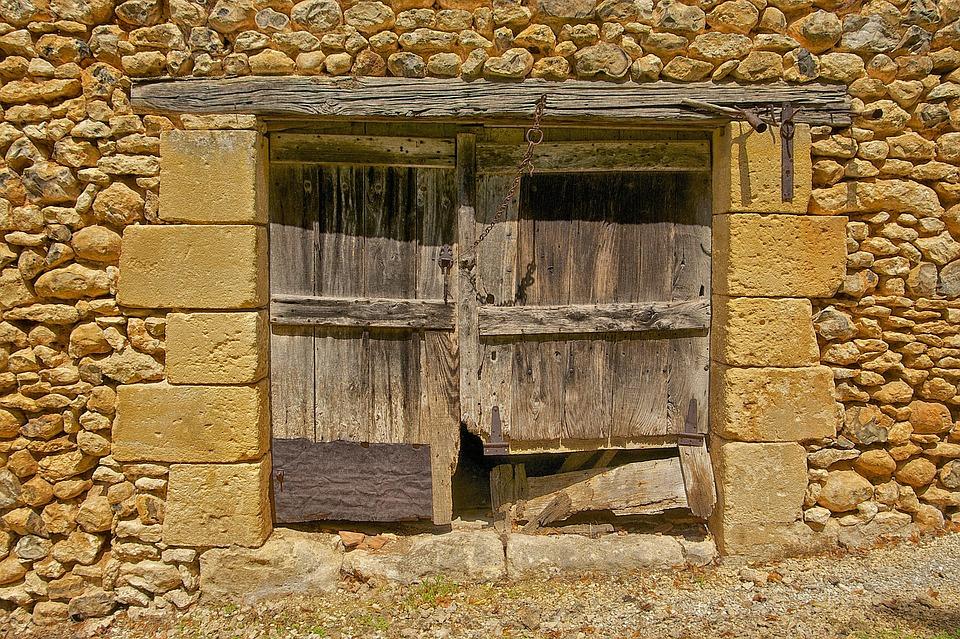 Dordogne, France, Barn, Window, Wood, Wooden