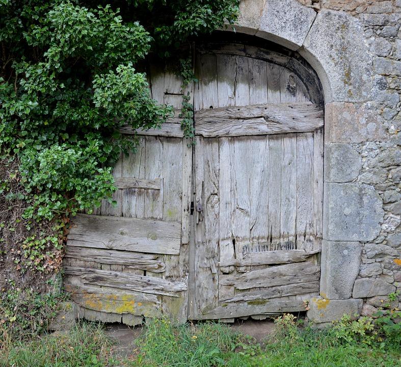 Old Door, Barn, Old Wood
