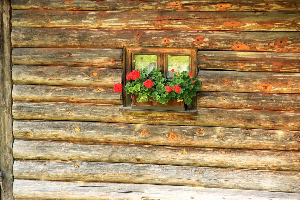 Window, Hut, Log Cabin, Barn, Vacation, Rustic