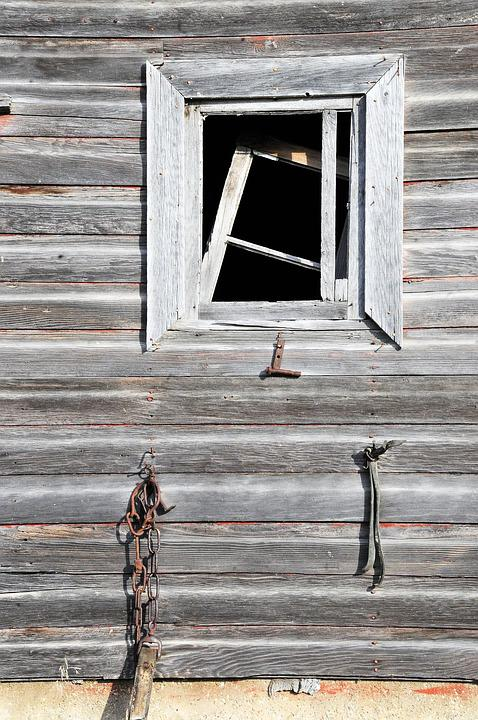 Window, Barn, Farm, Rustic, Weathered, Building