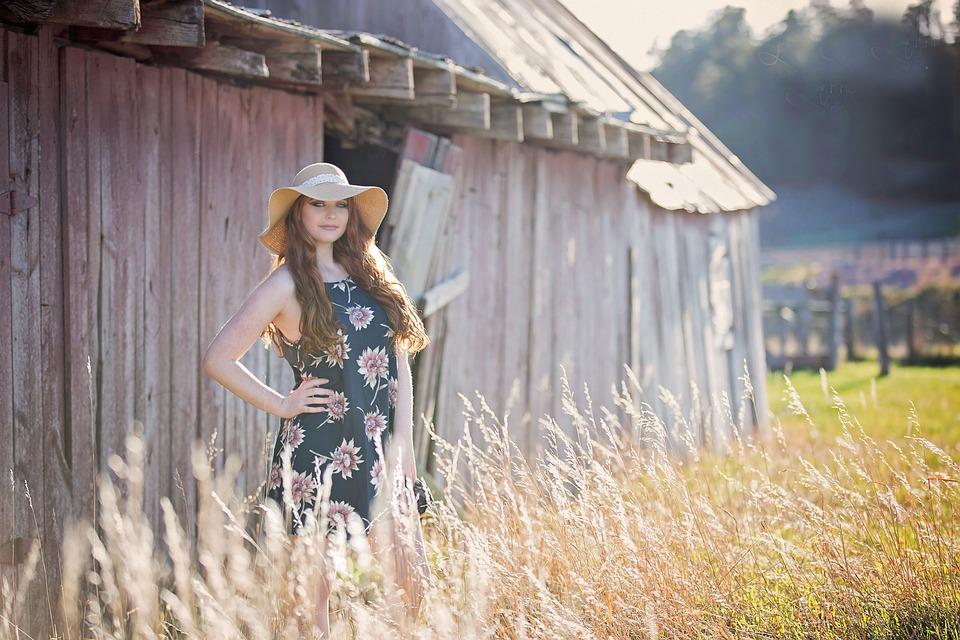 Summer, Outdoors, Nature, People, Grass, Field, Barn
