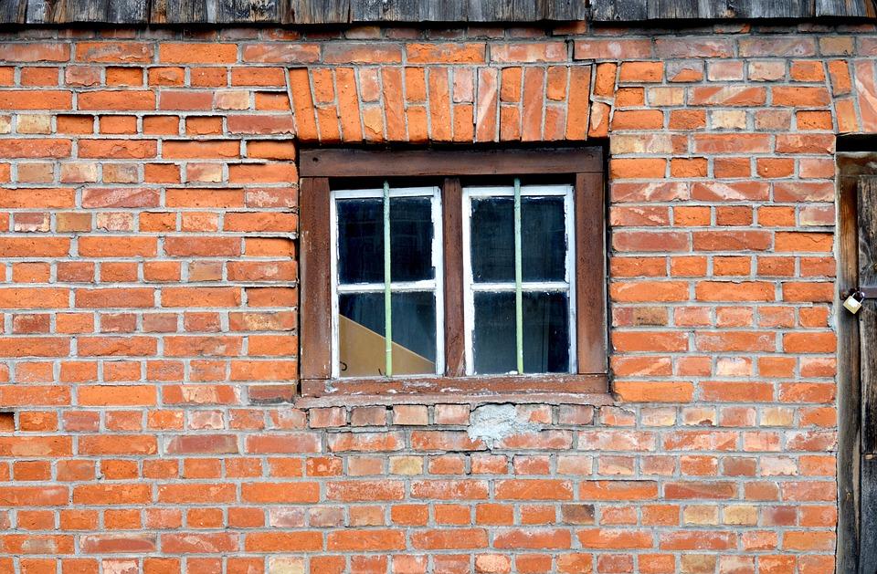 Masonry, Window, Barn, Old, Farmhouse, Facade, Wall