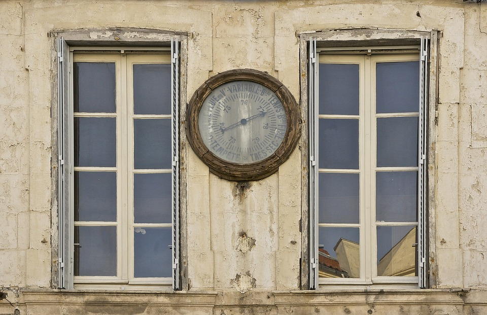Barometer, Historic, Instrument, Outside, Wall, Facade