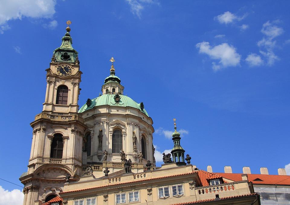 Church, Prague, Czechia, Baroque, Architecture, Travel
