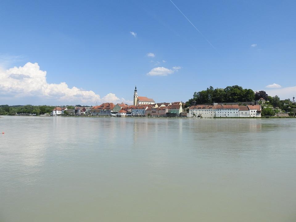 Schärding, Inn, Bridge, Baroque City, Baroque, Waters
