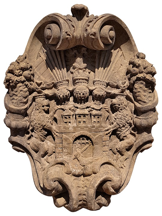 Prague, Coat Of Arms, Baroque, Sandstone, Sign