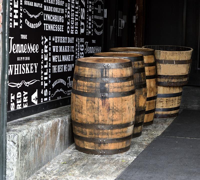 Whiskey Barrels, Bourbon, Barrel, Alcohol, Vintage, Old
