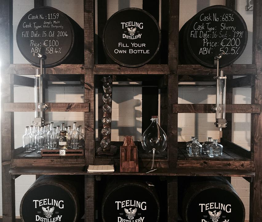 Whiskey, Barrel, Old, Brown, Distillery
