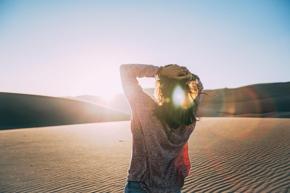 Arid, Barren, Desert, Girl, Landscape, Sand, Woman