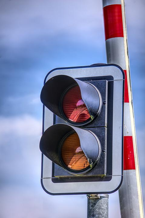 Traffic Lights, Signal, Barrier, Level Crossing, Light