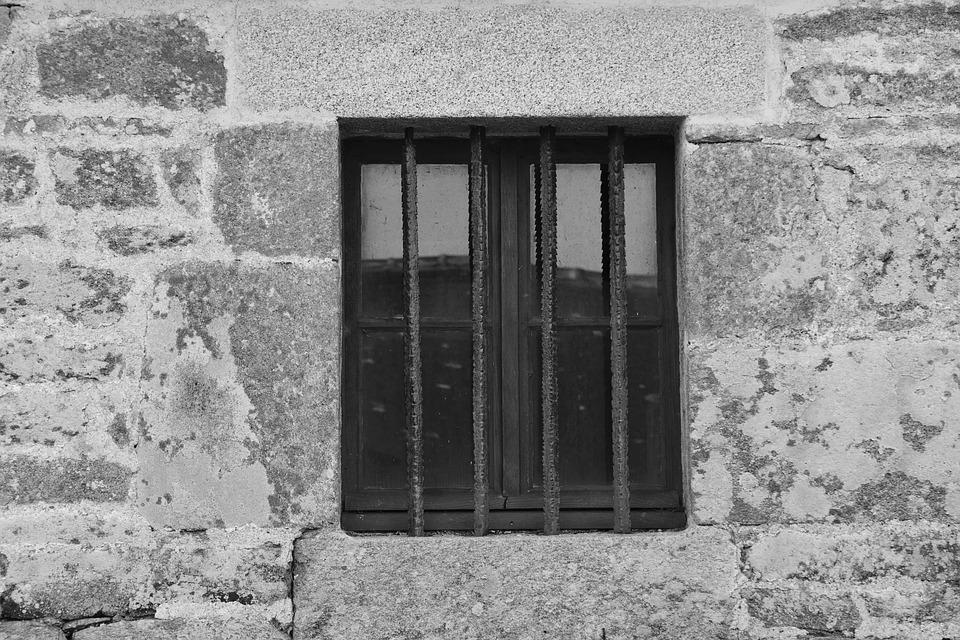 Wall, Architecture, Window, Stones, Bars, Former, Old