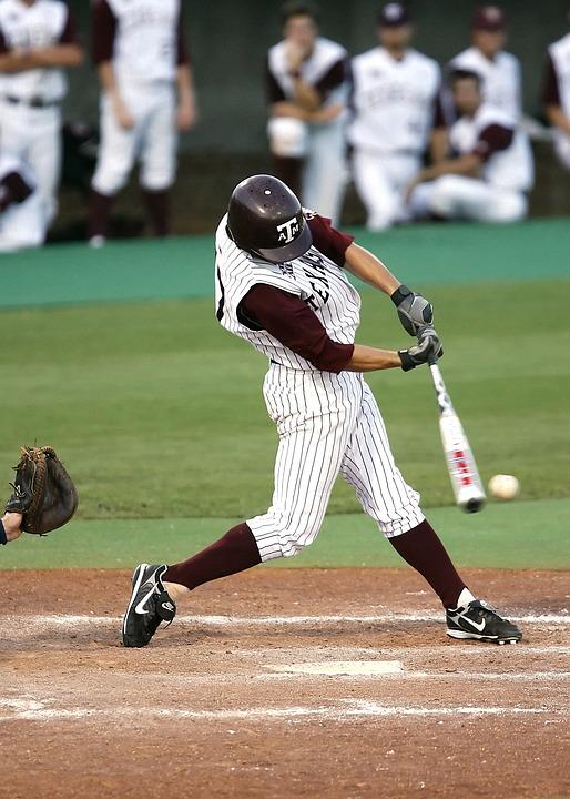 Baseball, Batter, Hitting, Sport, American, Player, Bat
